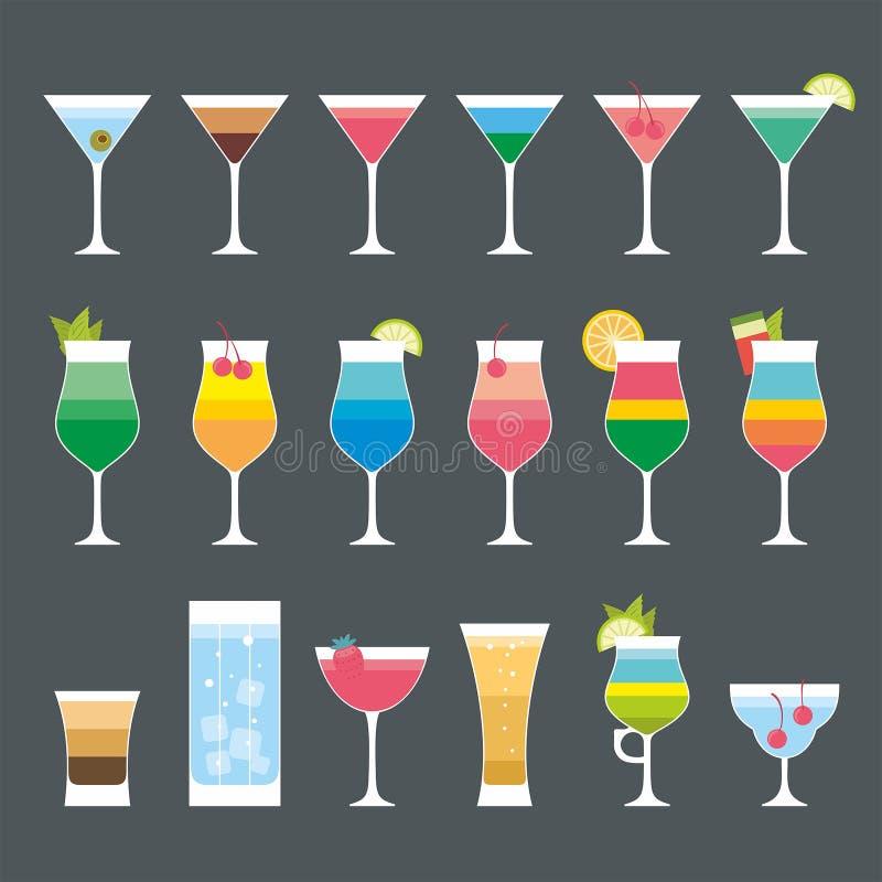 Ensemble de cocktail illustration libre de droits