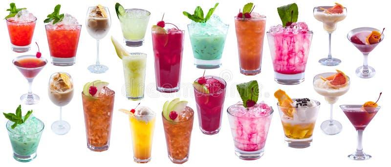 Ensemble de cocktails alcooliques image stock