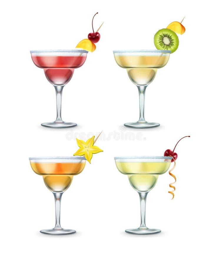 Ensemble de cocktails de margarita illustration libre de droits