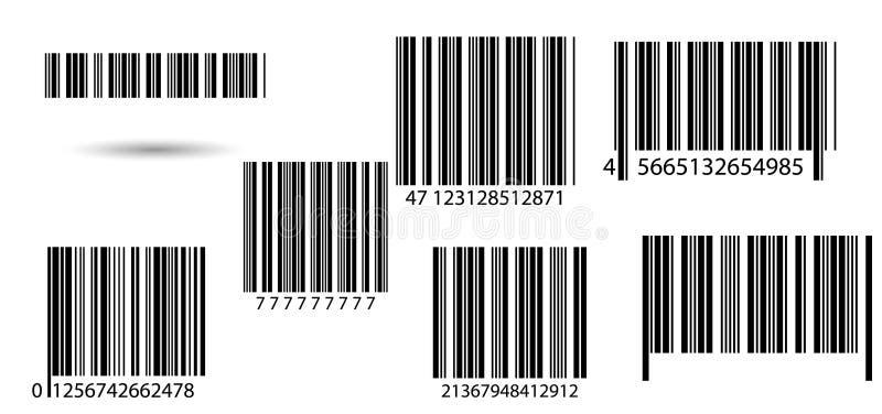 Ensemble de codes barres illustration stock
