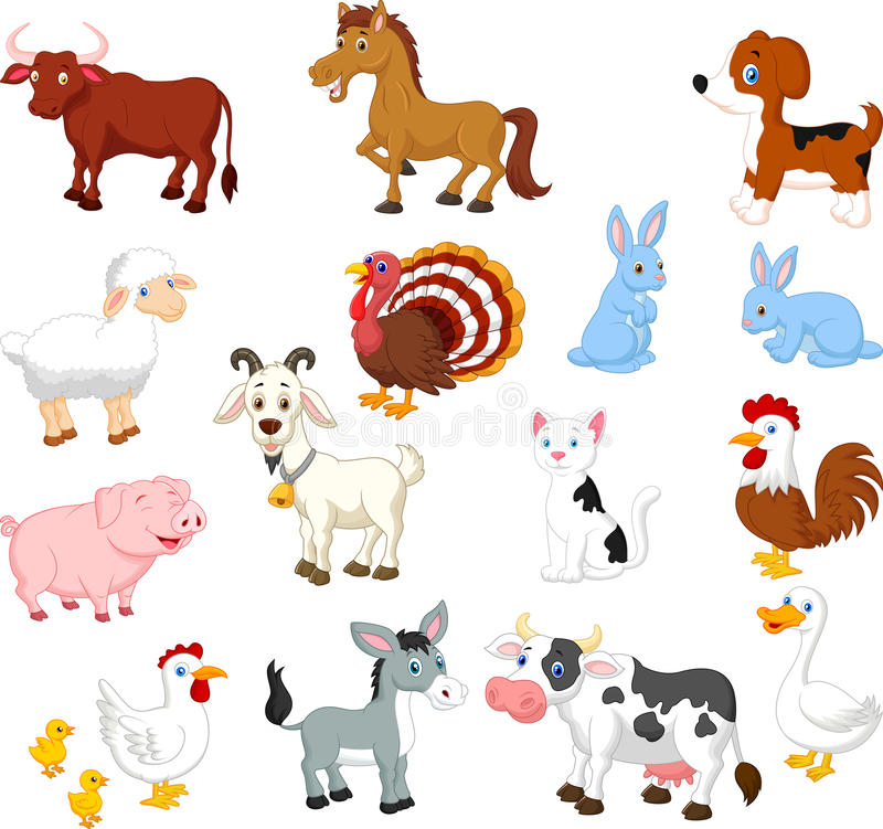 Ensemble de collection d'animal de ferme illustration libre de droits