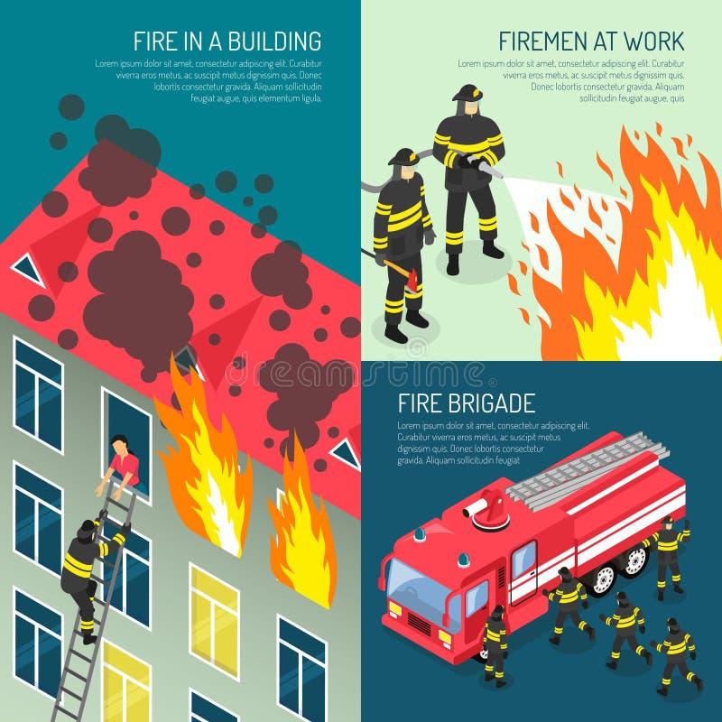 Ensemble de concept de construction de corps de sapeurs-pompiers illustration libre de droits