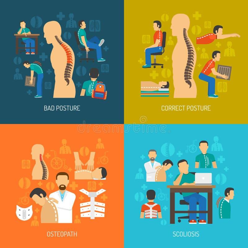 Ensemble de concept de construction de la posture 2x2 illustration libre de droits