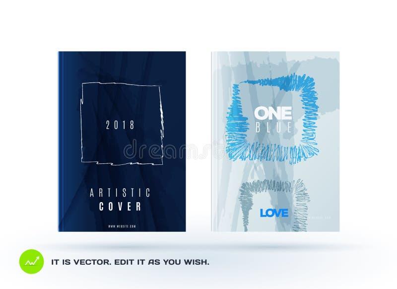 Ensemble de conception abstraite de brochure de vecteur d'affaires, couverture de calibre, affiche, affiche illustration stock
