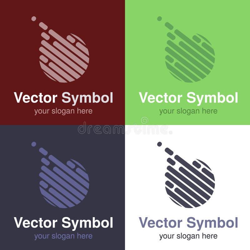 Ensemble de conception blanche verte, rouge, bleue et noire abstraite de logo de boule, d'emblèmes pour le club de sport ou de bo illustration de vecteur