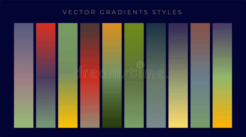 Ensemble de conception de gradients de vintage illustration libre de droits