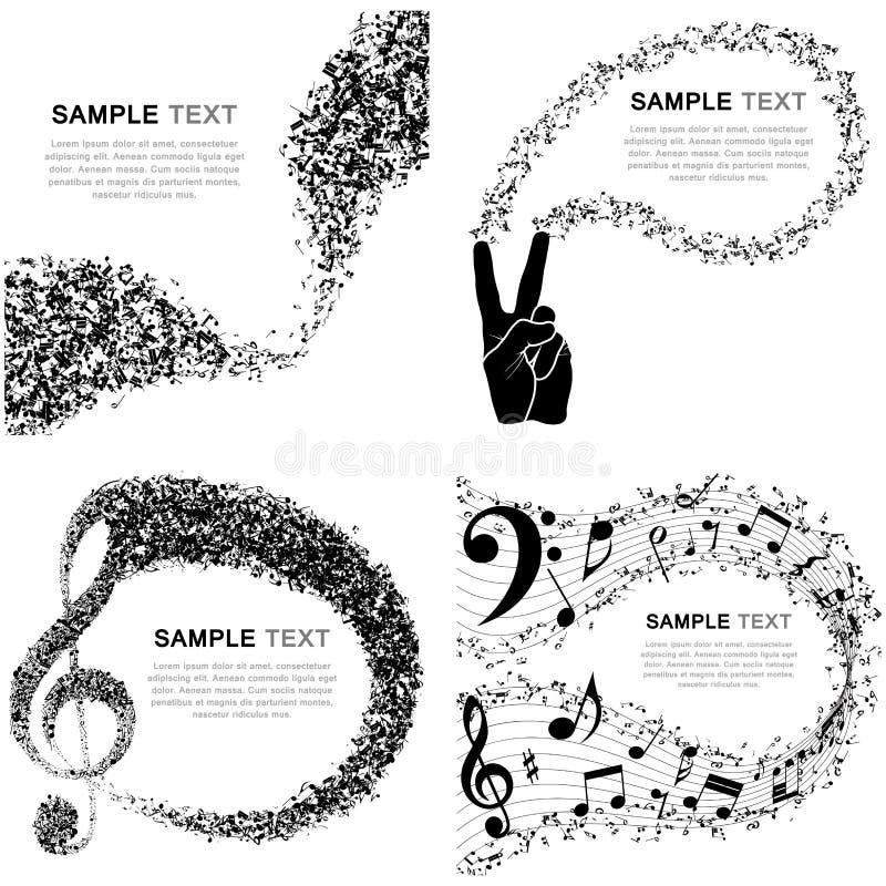Ensemble de conception musicale illustration libre de droits