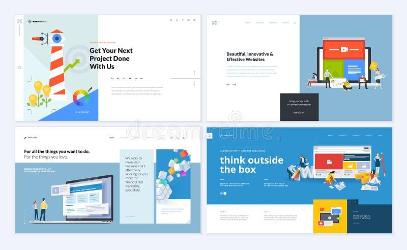 Ensemble de conceptions créatives de calibre de site Web illustration de vecteur