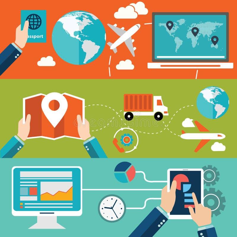 Ensemble de concepts plats d'illustration de vecteur de conception pour la disposition de site Web, les services de téléphone por illustration de vecteur
