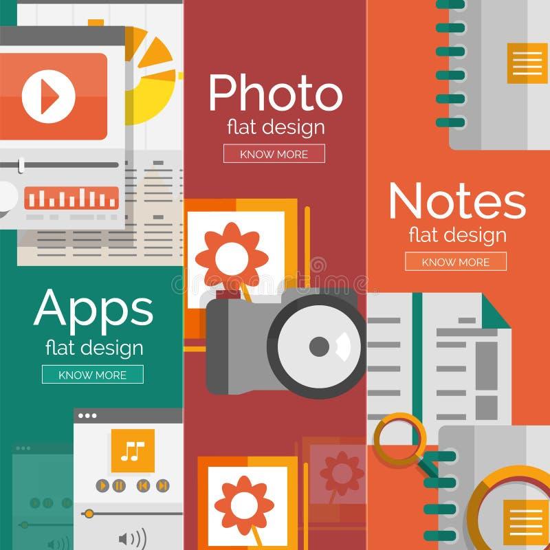 Ensemble de concepts plats de mobilité de conception illustration stock