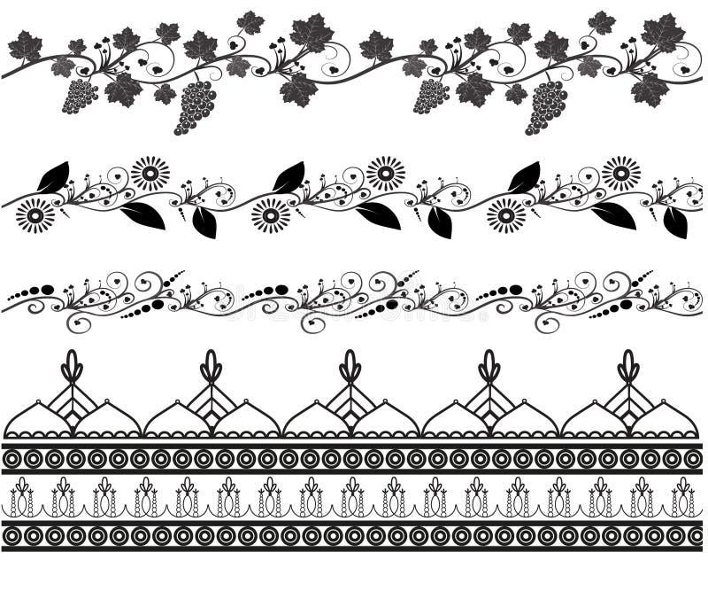 Ensemble de configuration sans joint Mehndi illustration stock