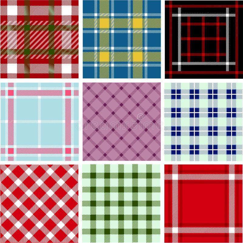 Ensemble de configurations de plaid illustration stock