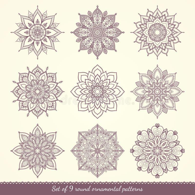 Ensemble de configurations florales illustration libre de droits