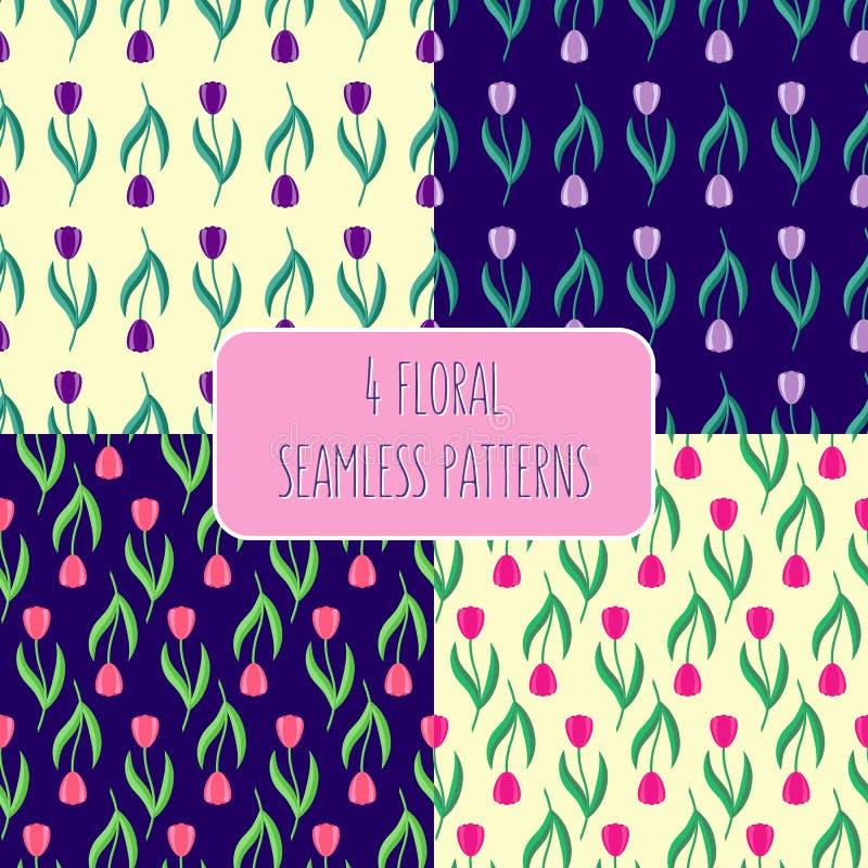 Ensemble de configurations florales photos stock