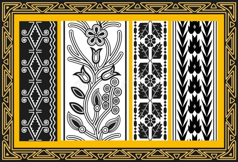 Ensemble de configurations florales indiennes antiques