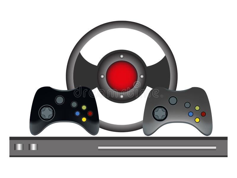 Ensemble de contrôleur de jeu illustration de vecteur