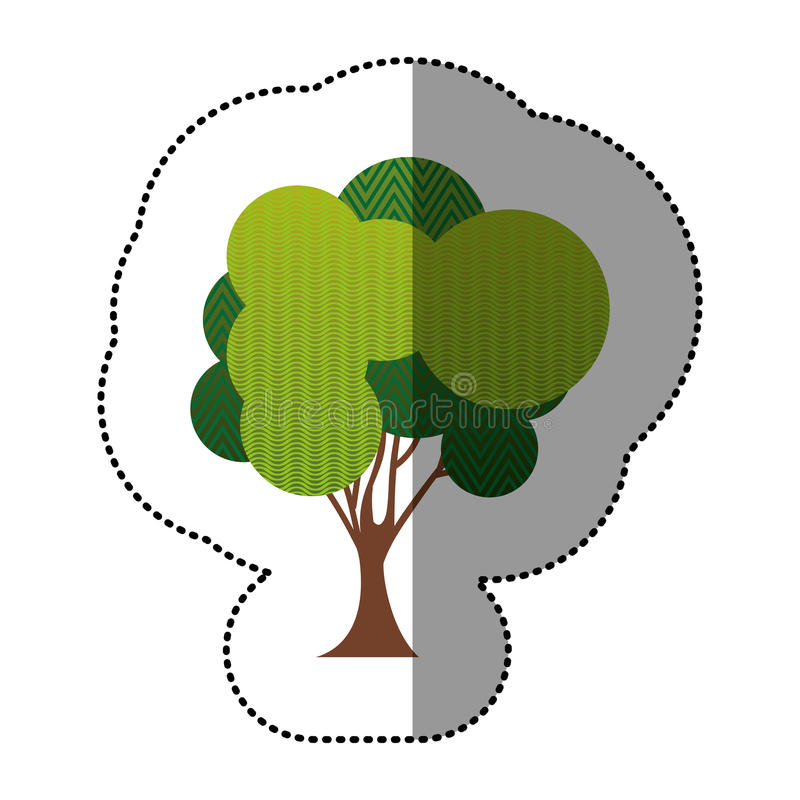 Download Ensemble De Couleur D'icône Abstraite D'arbre Illustration Stock - Illustration du organique, coloré: 87704931