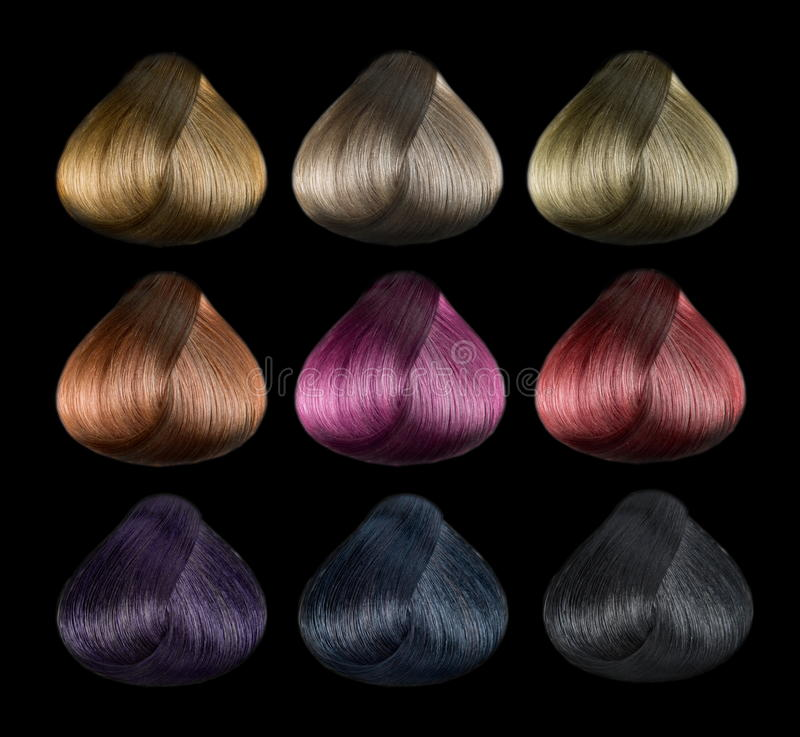Ensemble de couleur de cheveux images libres de droits