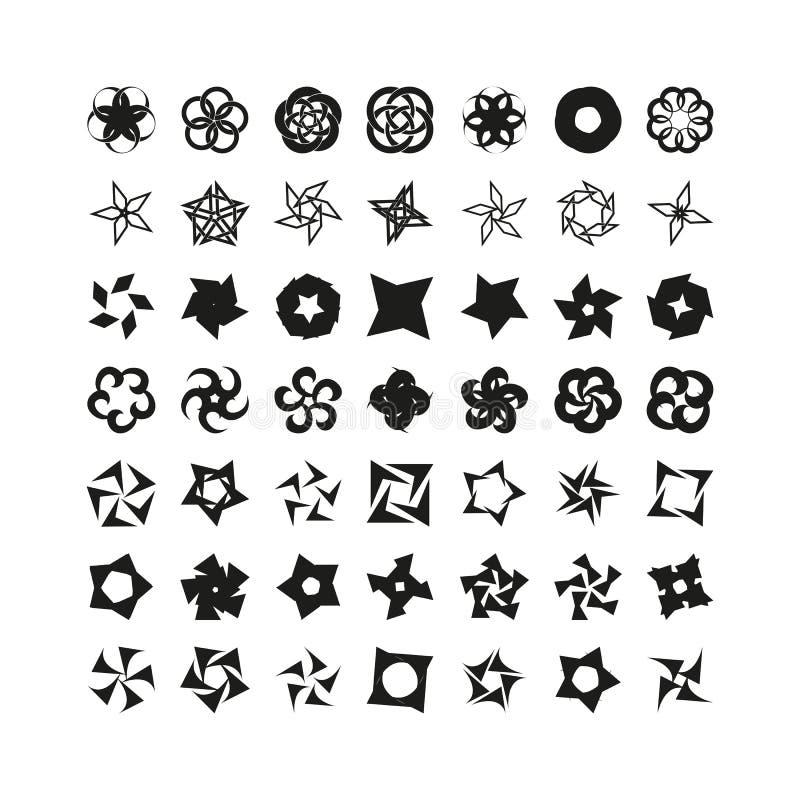 Ensemble de couleurs et de caractères simples illustration stock