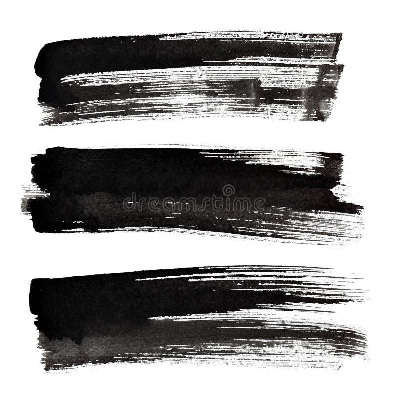 Ensemble de courses à l'encre noire de brosse illustration libre de droits