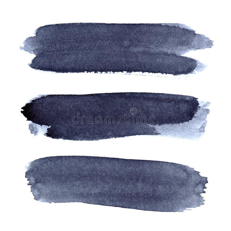 Ensemble de courses bleues grises de brosse illustration libre de droits