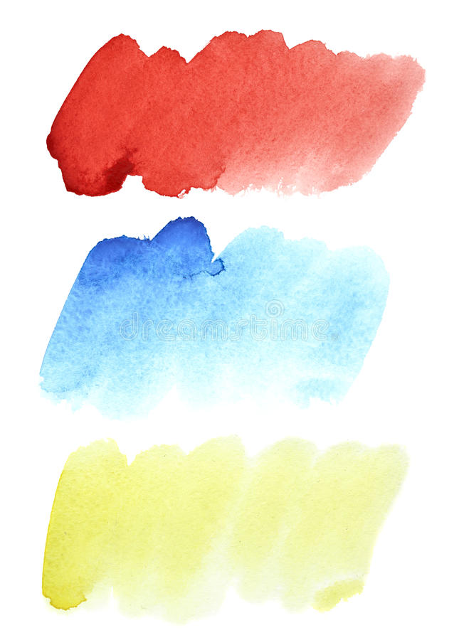 Ensemble de courses colorées d'aquarelle illustration de vecteur