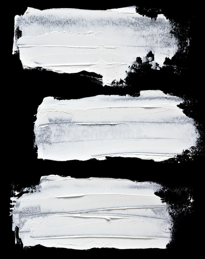 Ensemble de courses de pinceau d'huile paraffinée illustration de vecteur