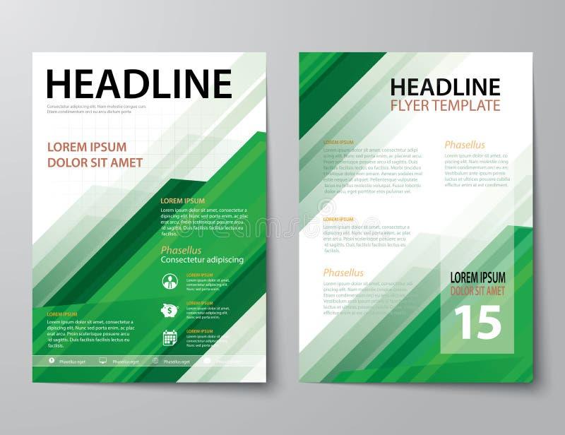 Ensemble de couverture de revue commerciale, insecte, tem plat de conception de brochure illustration libre de droits