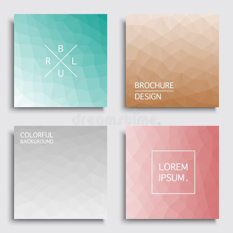 Ensemble de couvertures colorées - conception géométrique de tache floue Milieux lumineux abstraits, cartes, affiches, brochures illustration de vecteur