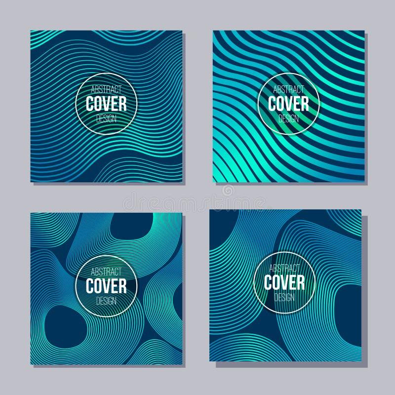 Ensemble de 4 couvertures cr?atives Calibre abstrait de disposition de concept Applicable pour des affiches, plaquettes, couvertu illustration libre de droits