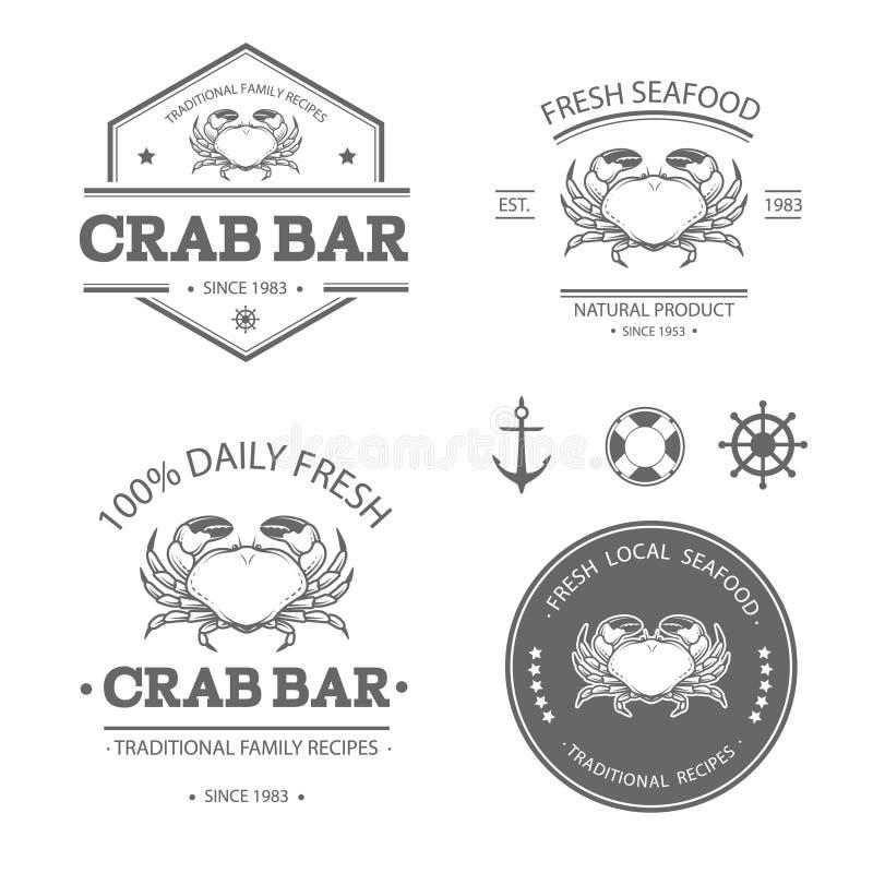 Ensemble de crabe illustration de vecteur