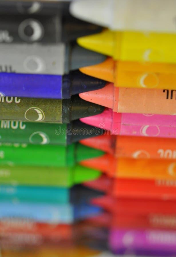 Ensemble de crayons colorés image libre de droits