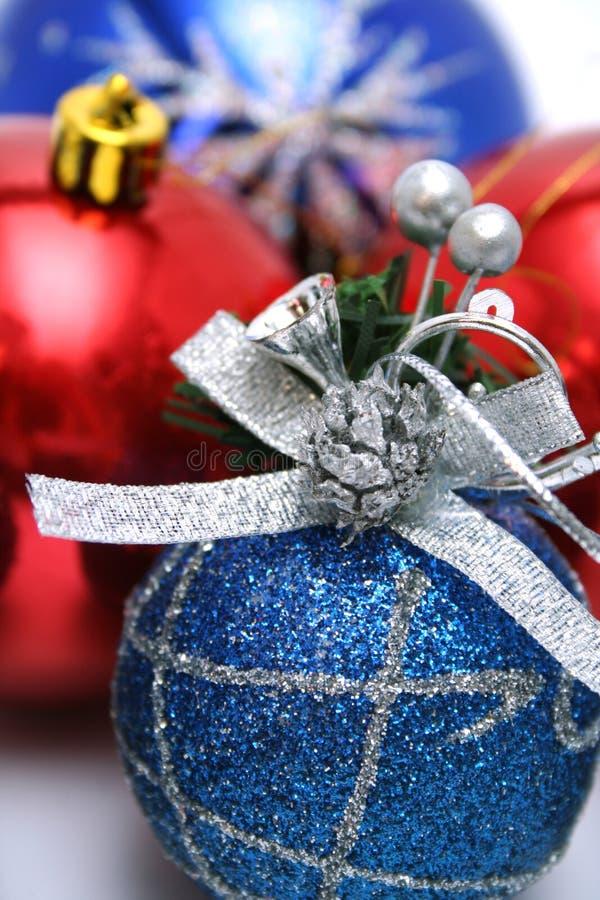 Ensemble de décorations du Noël-arbre d'an neuf avec une configuration images libres de droits