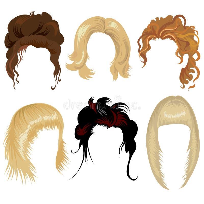Ensemble de dénommer de cheveu illustration stock
