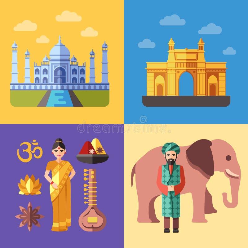 Download Ensemble De Déplacement Plat De Vecteur De Concepts D'Inde Illustration de Vecteur - Illustration du fond, asie: 77162423
