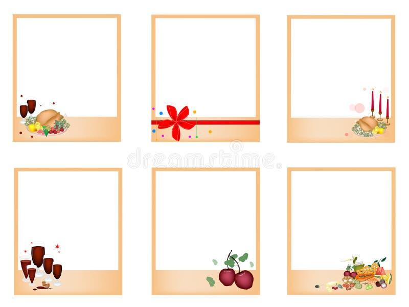 Ensemble de dîner de Noël de withTraditional de photos illustration libre de droits