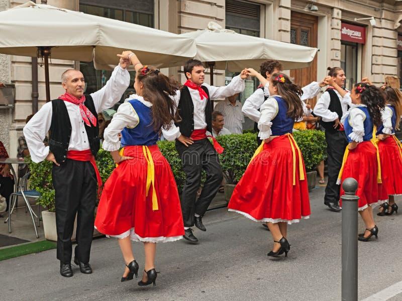 Ensemble de danse folklorique de Romagna, Italie images stock