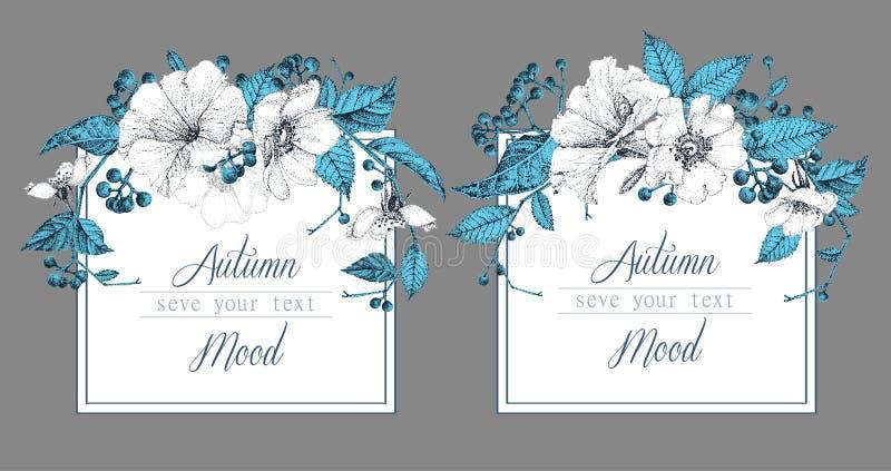 Ensemble de deux calibres pour des cartes ou des invitations illustration stock