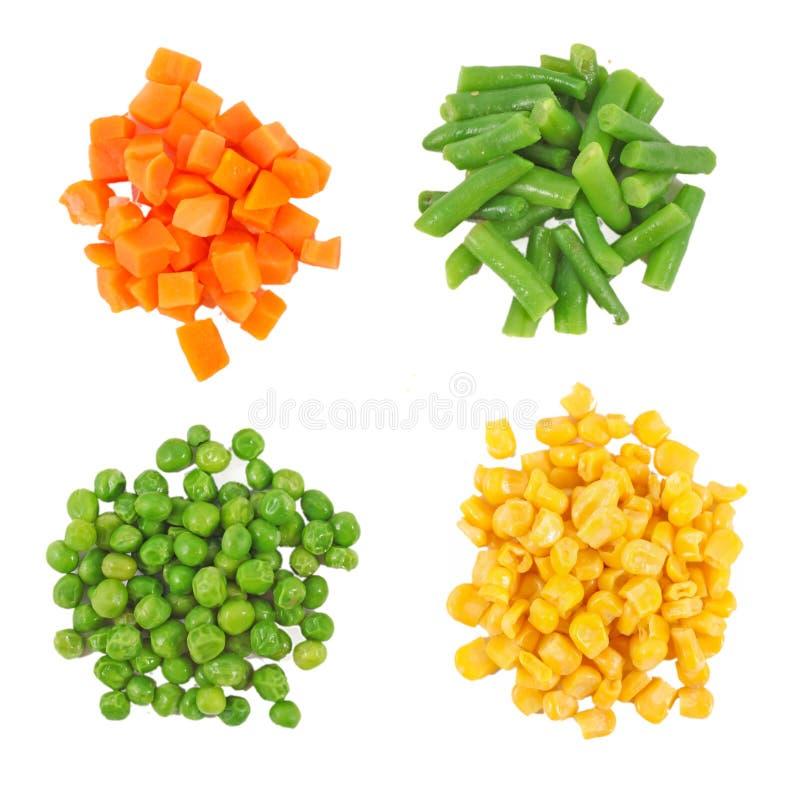 Ensemble de différents légumes congelés photographie stock libre de droits