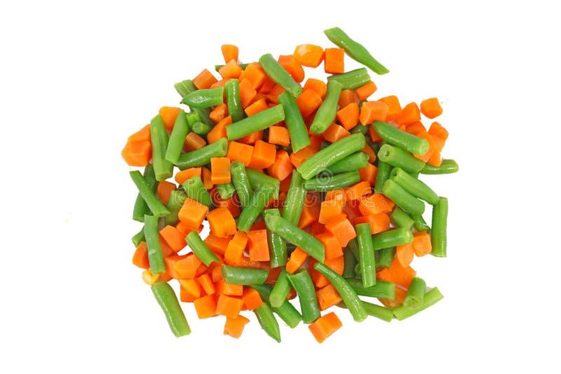 Ensemble de différents légumes congelés photo stock