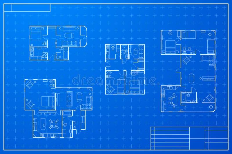 Ensemble de différents plans de maison de modèle illustration de vecteur