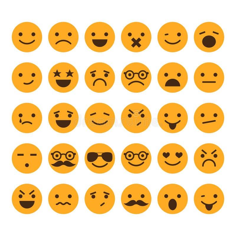 Ensemble de différents smiley  illustration libre de droits