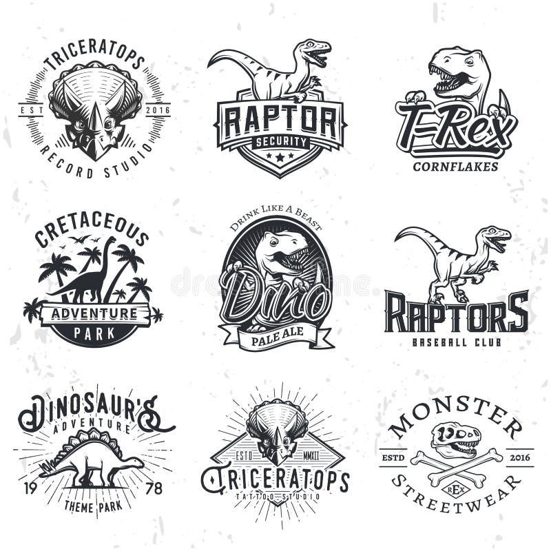 Ensemble de Dino Logos illustration stock
