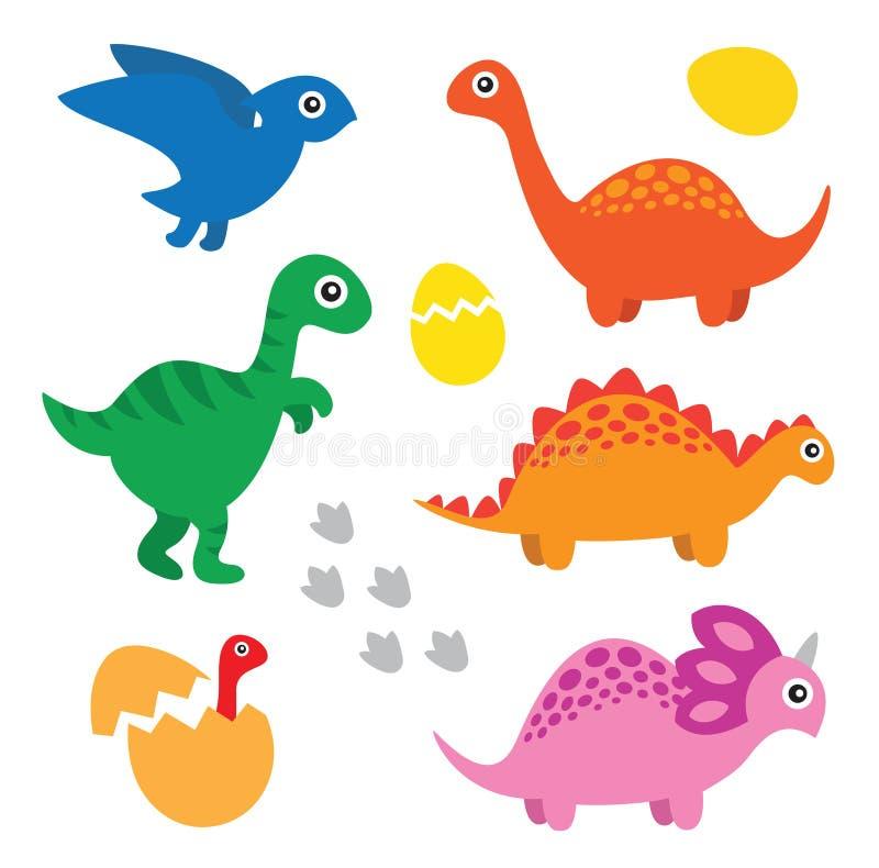 Ensemble de dinosaure illustration libre de droits