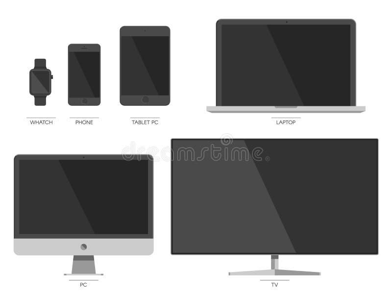 Ensemble de dispositif de Digital illustration stock