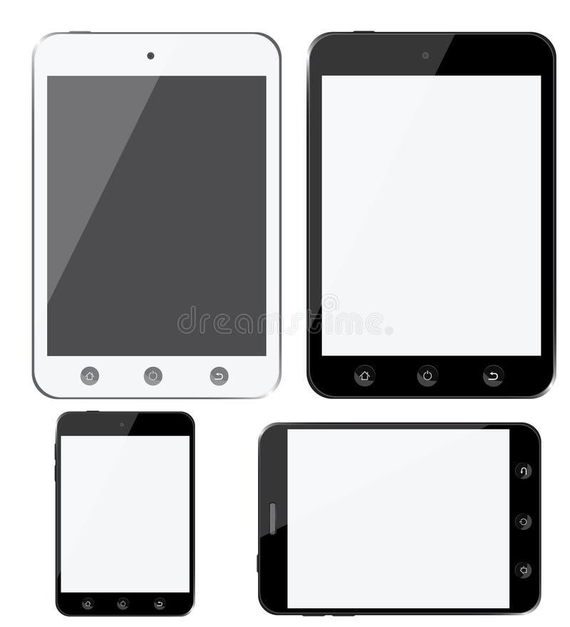 Ensemble de dispositifs numériques modernes, smartphones, comprimé illustration de vecteur
