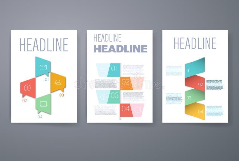 Ensemble de dispositions infographic de calibre Organigramme illustration stock