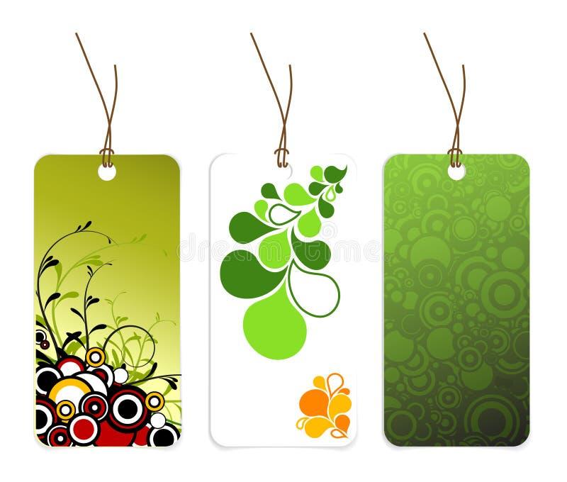 Ensemble de diverses étiquettes de papier illustration de vecteur