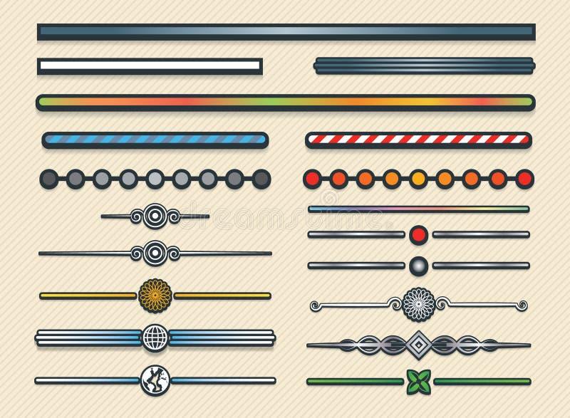 Ensemble de diviseurs illustration de vecteur