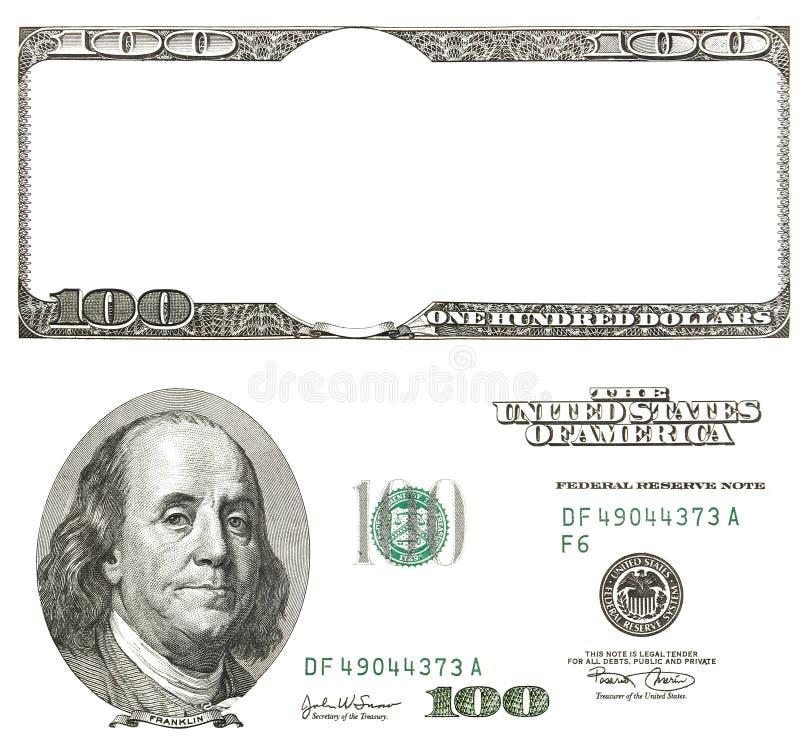 Ensemble de dollars originaux de détail d'isolement sur le fond blanc image libre de droits